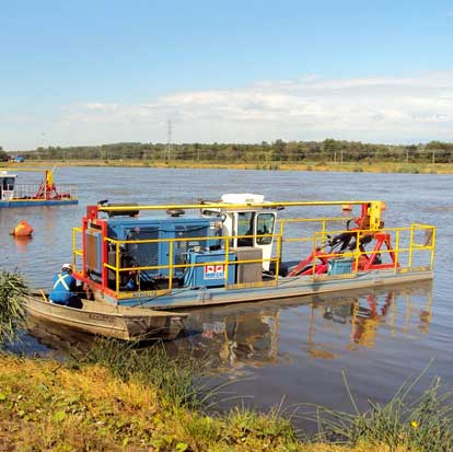 Dredge Services for lagoons and ponds by Spike Enterprise