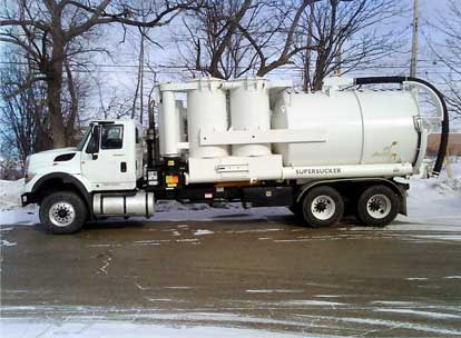 High Velocity vacuum truck services by Spike Enterprise