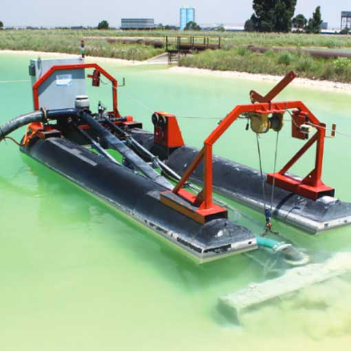 Automated electric dredging for pits, ponds and lagoons